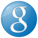 128x128px size png icon of social google button blue