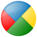 128x128px size png icon of social google buzz button