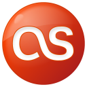 128x128px size png icon of social lastfm button red