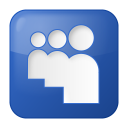 128x128px size png icon of social myspace box blue