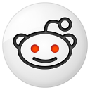128x128px size png icon of social reddit button