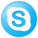 128x128px size png icon of social skype button blue