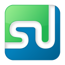 128x128px size png icon of social stumbleupon box color