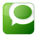 128x128px size png icon of social technorati box green