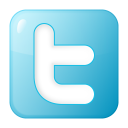 128x128px size png icon of social twitter box blue
