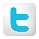 128x128px size png icon of social twitter box white