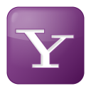 128x128px size png icon of social yahoo box lilac