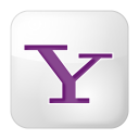 128x128px size png icon of social yahoo box white