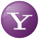 128x128px size png icon of social yahoo button lilac
