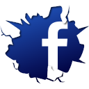 128x128px size png icon of social inside facebook