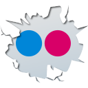 128x128px size png icon of social inside flickr