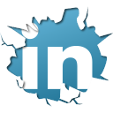 128x128px size png icon of social inside linkedin
