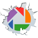 128x128px size png icon of social inside picasa