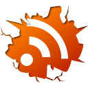 128x128px size png icon of social inside rss