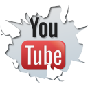 128x128px size png icon of social inside youtube