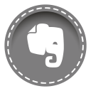 128x128px size png icon of evernote