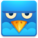 128x128px size png icon of Twitter square angry