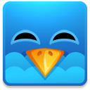 128x128px size png icon of Twitter square happy