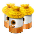 128x128px size png icon of Village