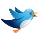 128x128px size png icon of twitter bird flying