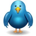 128x128px size png icon of twitter bird front