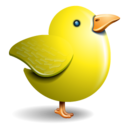 128x128px size png icon of twitter bird yellow
