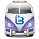 128x128px size png icon of twitter bus purple