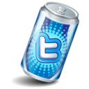 128x128px size png icon of twitter can