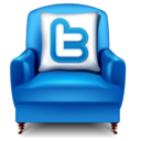 128x128px size png icon of twitter chair