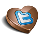 128x128px size png icon of twitter chocolate dark