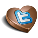 128x128px size png icon of twitter chocolate