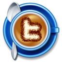 128x128px size png icon of twitter coffee