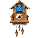 128x128px size png icon of twitter cuckoo clock