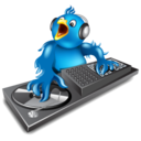 128x128px size png icon of twitter dj