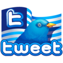 128x128px size png icon of twitter flag
