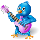 128x128px size png icon of twitter guitar