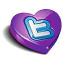 128x128px size png icon of twitter heart purple