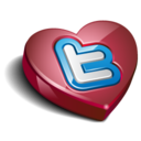 128x128px size png icon of twitter heart