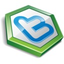 128x128px size png icon of twitter hexa green