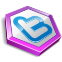 128x128px size png icon of twitter hexa purple