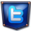 128x128px size png icon of twitter jeans