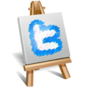 128x128px size png icon of twitter painting
