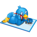 128x128px size png icon of twitter phone