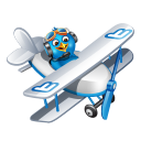 128x128px size png icon of twitter plane