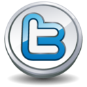 128x128px size png icon of twitter round