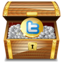 128x128px size png icon of twitter treasure
