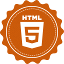128x128px size png icon of html 5