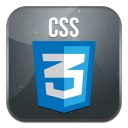 128x128px size png icon of css 3