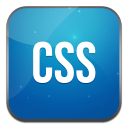 128x128px size png icon of css