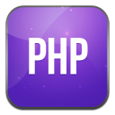 128x128px size png icon of php